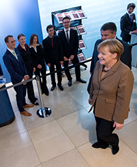 Angela merkel trifft den Software Campus